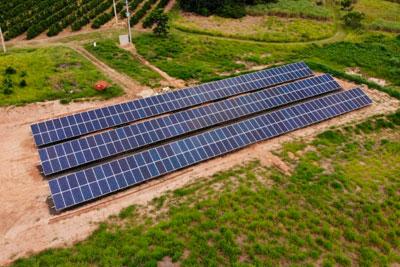 Estrutura de Fixação para Painel Solar em Solo